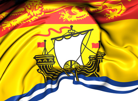 Flag of New Brunswick, Canada. Close Up.    photo