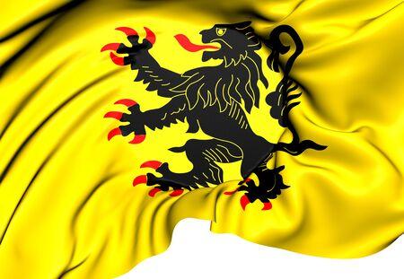 calais: Flag of Nord-Pas de Calais. Close Up.    Stock Photo