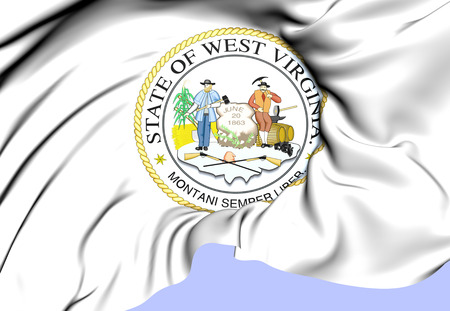 West Virginia State Seal, USA. Close Up. photo