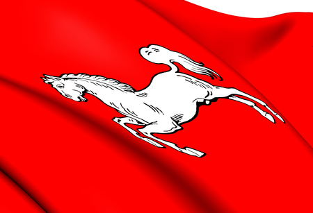 electorate: Electorate of Hanover Flag. Close Up.   Stock Photo