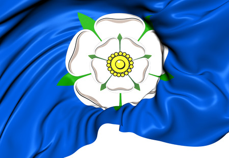 yorkshire: Flag of Yorkshire. Close Up.