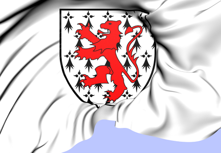 bretagne: Champy Family Coat of Arms. Close Up.