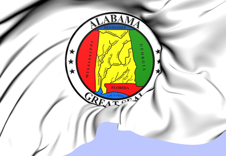 State Seal of Alabama, USA. Close Up.   photo