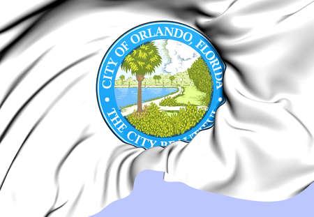 orlando: Orlando Coat of Arms, USA. Close Up.