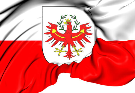 tirol: Flag of Tyrol, Austria. Close Up.