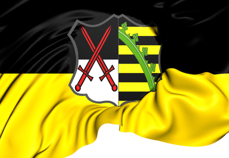 electorate: Electorate of Saxony Flag (1356-1806). Close Up.    Stock Photo