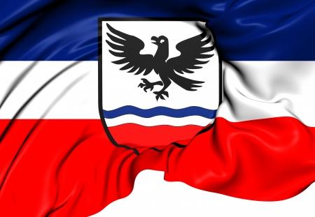 upper arm: Flag of Natternbach, Austria. Close Up.