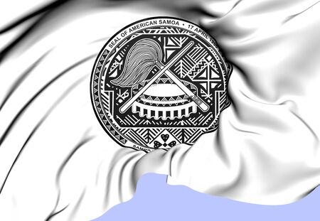 samoa: American Samoa Coat of Arms. Close Up.
