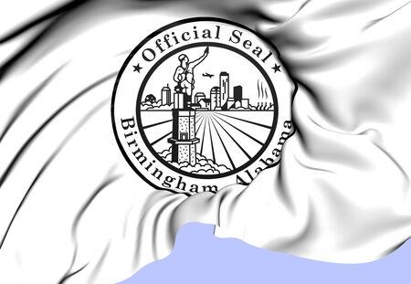 Birmingham Coat of Arms, USA. Close Up.    photo