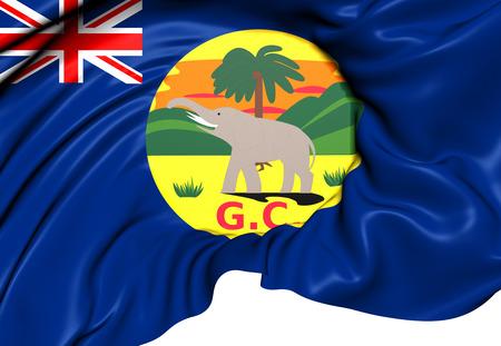 gold coast: Flag of Gold Coast. Close Up.