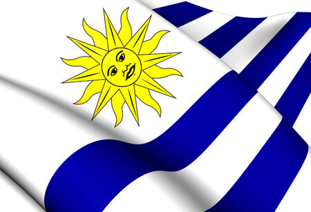 Flag of Uruguay. Close Up. photo