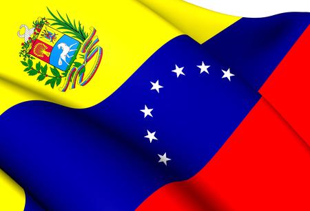 Flag of Venezuela. Close Up.    Stock Photo