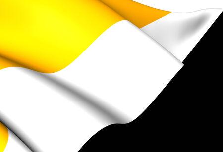 republique: Republic of Cabinda Flag. Close Up. Stock Photo