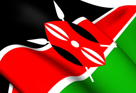 kenya: Flag of Kenya. Close Up.    Stock Photo