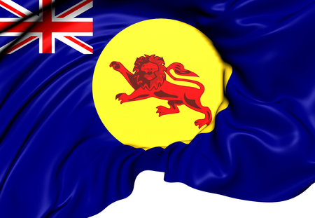 protectorate: Flag of North Borneo. Close Up.    Stock Photo