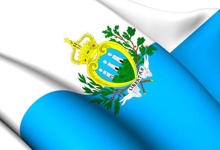 marino: Flag of San Marino. Close Up.    Stock Photo