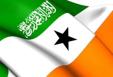somaliland: Flag of Somaliland (Orange). Close Up.