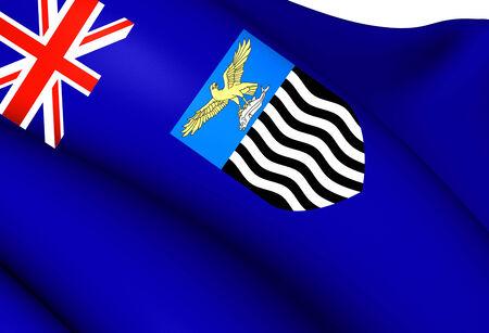 zambian: Flag of Northern Rhodesia. Close Up.