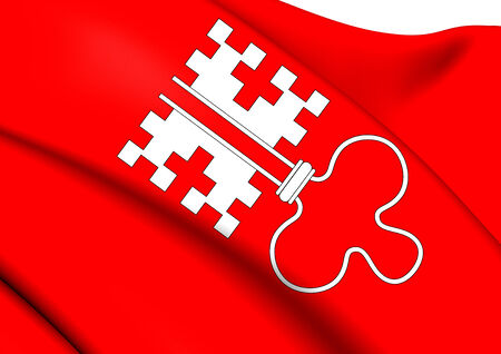Flag of Nidwalden, Switzerland. Close Up. photo