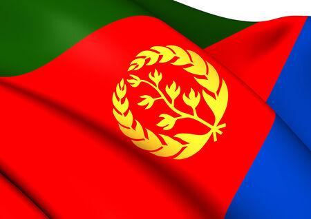 eritrea: Flag of Eritrea. Close Up.    Stock Photo