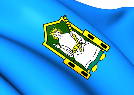 meath: Flag of Mide, Ireland. Close Up.