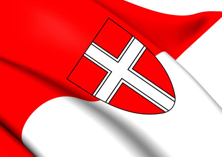 wean: Flag of Vienna. Close Up.