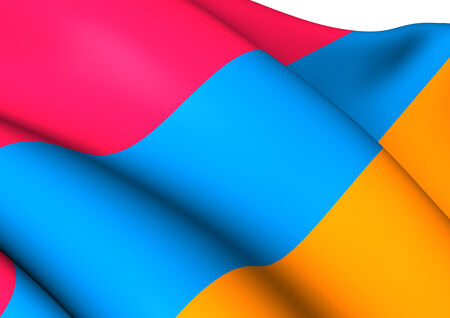 Flag of Armenia. Close Up. photo
