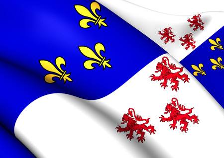 blason: Flag of Picardy, France. Close Up.