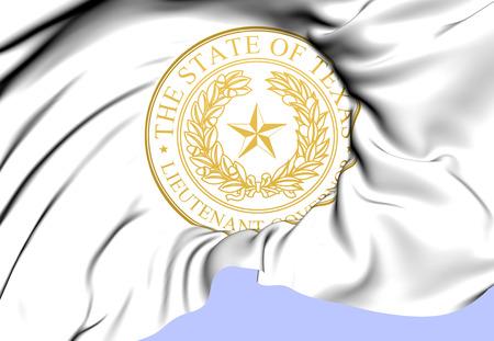 luitenant: Luitenant Gouverneur van Texas Seal, USA. Close Up.
