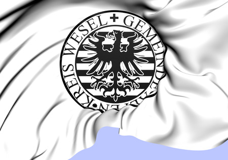 alpen: Seal of Gemeinde Alpen, Germany. Close Up.    Stock Photo