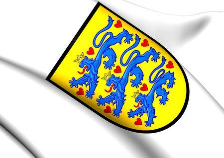 danmark: Denmark Coat of Arms. Close Up.