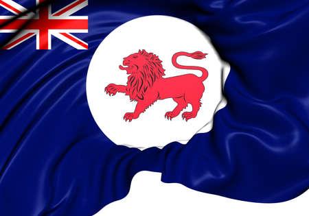 tasmania: Flag of Tasmania, Australia. Close Up.