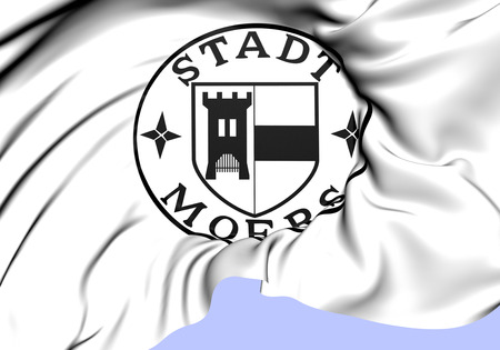 siegel: Seal of Moers, Germany. Close Up.    Stock Photo