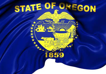 oregon: Flag of Oregon, USA. Close Up.   Stock Photo