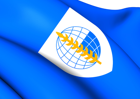 treaty: South East Asia Treaty Organization Flag. Close Up. Stock Photo