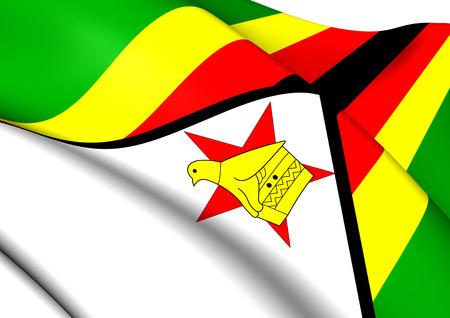 zimbabwe: Bandera de Zimbabwe. Close Up.