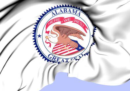 State Seal of Alabama, USA (1868-1939). Close Up.   photo