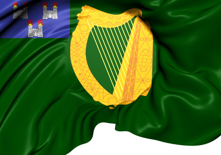 Flag of Dublin, Ireland. Close Up.    photo