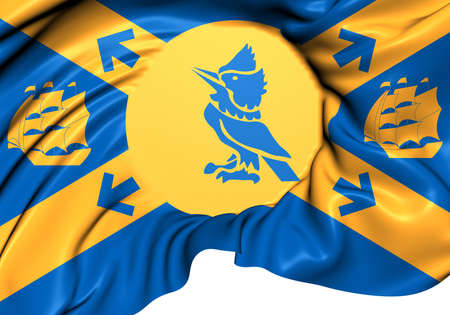 Flag of Halifax, Canada. Close Up. photo