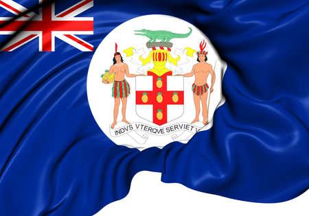 Flag of Jamaica (1957-1962). Close Up. photo