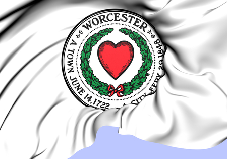 Seal of Worcester, USA. Close Up.   photo