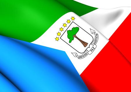 equatorial guinea: Flag of Equatorial Guinea. Close Up.