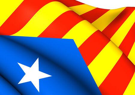 Blue Estelada Flag. Close Up.