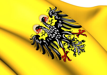 holy roman emperor: Flag of Holy Roman Empire (1400-1806). Close Up.    Stock Photo