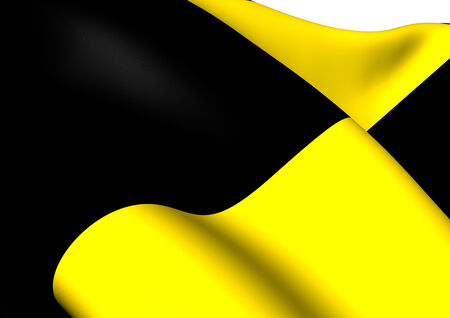 Flag of Lubbeek, Belgium. Close Up. Stock Photo