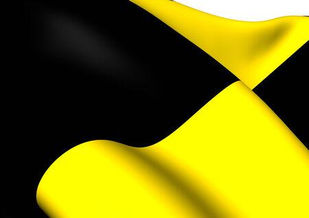 flemish region: Flag of Lubbeek, Belgium. Close Up. Stock Photo