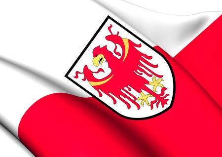tyrol: Flag of South Tyrol, Italy. Close Up.    Stock Photo