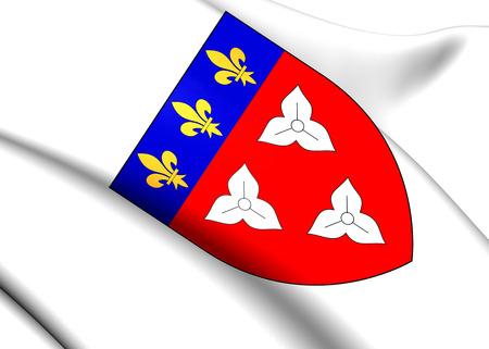 orleans symbol: Orleans Coat of Arms, France. Close Up.    Stock Photo