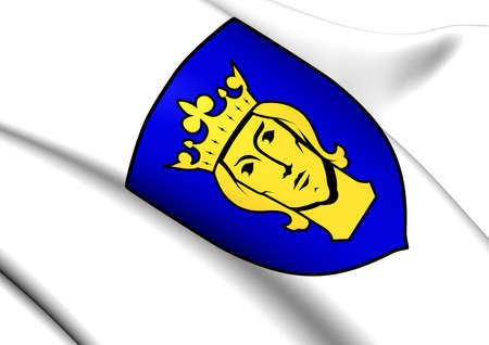 Stockholm Coat of Arms, Sweden. Close Up.    photo