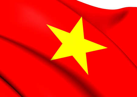 Flag of Vietnam. Close Up.    photo